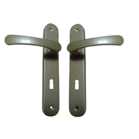 Klamka zielona długi szyld 90 klucz