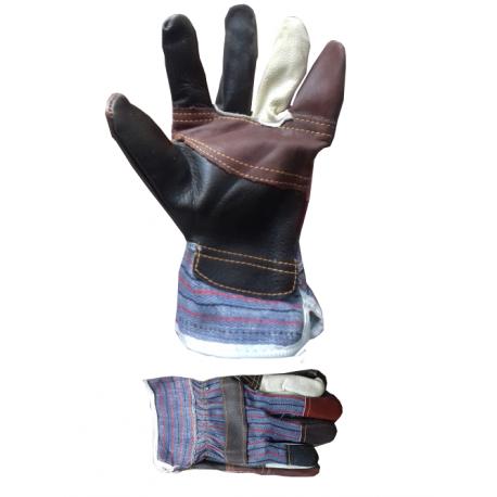 Skórzane rękawice robocze dostępne w sklepie domero