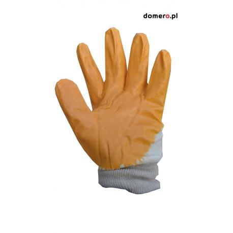 Rękawice robocze powlekane grubą warstwą nitrylu domero