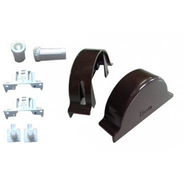 Mechanizm do rolety w kasecie ciemny braz