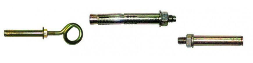 Kotwy z trzpieniem rozporowym, z hakiem, oczkowe