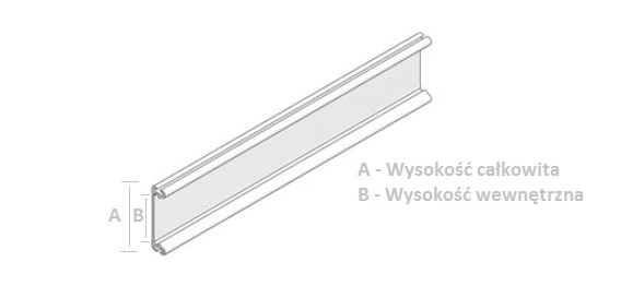 Dane techniczne belki nośne do przyklejenia rolet mini oraz dzień i noc do okna