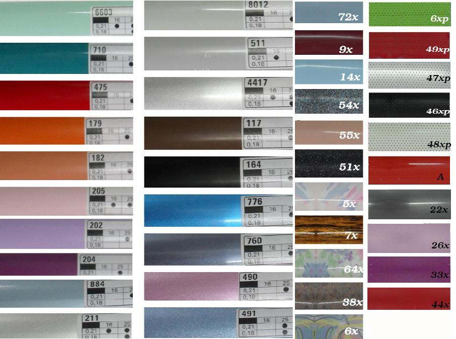 Dostępne kolory żaluzji w naszym sklepie domero
