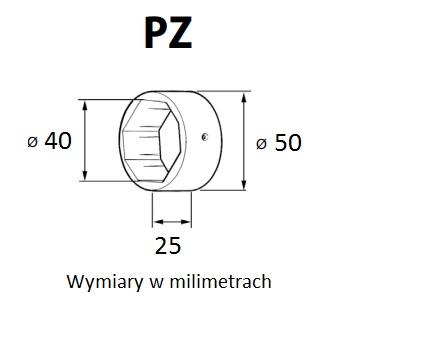 Pierścień zwiększający średnicę z fi 40 na fi 50