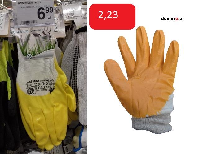 Rękawice robocze cena w markecie a w naszym sklepie internetowym. Nie musisz przepłacać!