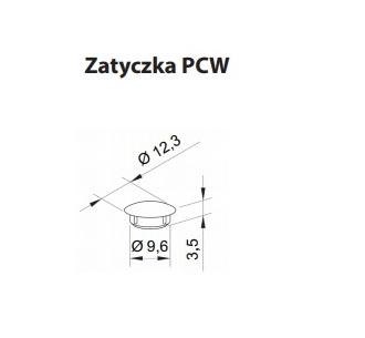 dane techniczne zatyczki w prowadnicy rolety zewnętrznej w kolorze szarego antracytu