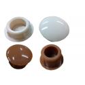 Zatyczka do prowadnicy rolety zewnętrznej złoty dąb, kremowy kpl. 10 szt.
