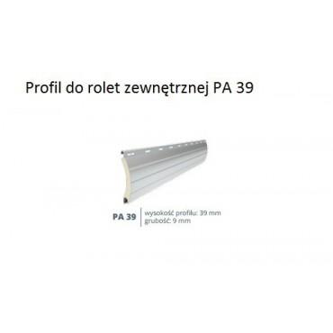 Biały profil 149cm do rolety zewnętrznej PA 39.